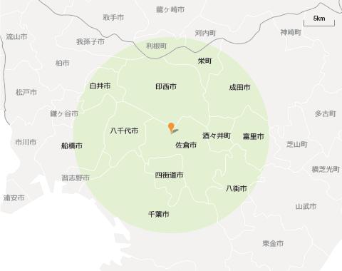 佐倉訪問マップ
