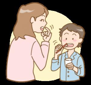 歯ブラシ指導